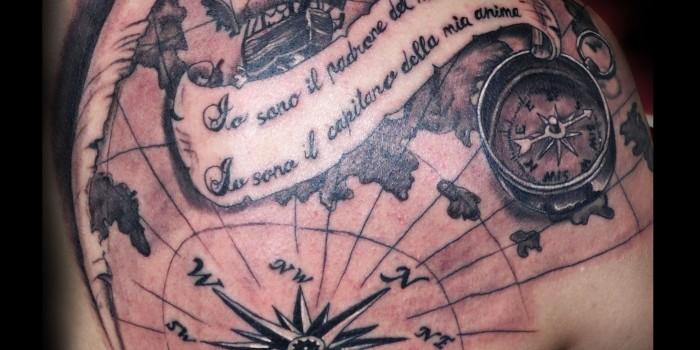 tattoos huesca, tatuajes huesca, tattoo jaca, tattoo brujula, tattoo mapa, tatuaje mapa, tattoo letras