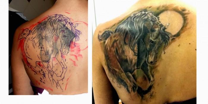 tattoos huesca, tatuajes huesca, tattoo caballo