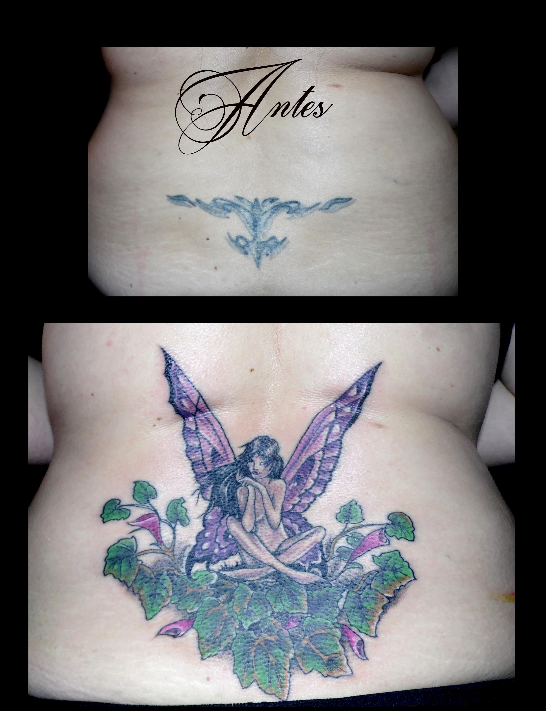 Otro tapado de tatuaje antiguo