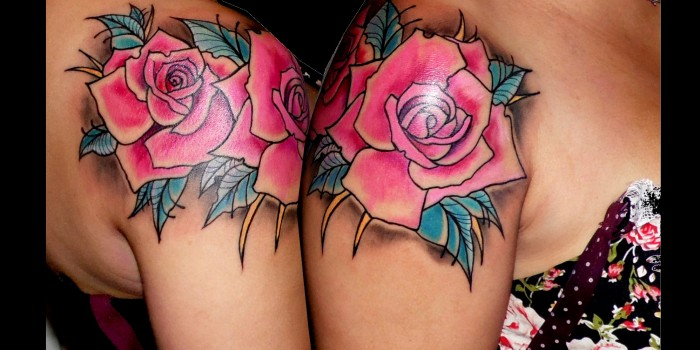 tattoos huesca, tatuajes rosas, tattoos jaca, tattoo old , tatuajes huesca,tattto old school