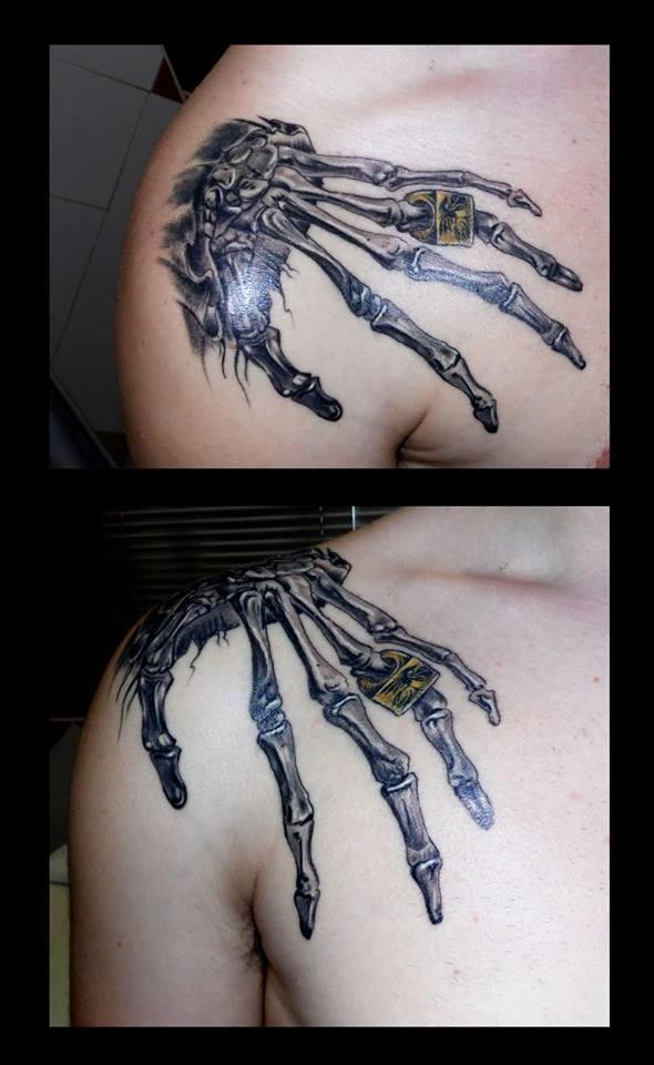 mano esqueleto hombro www.13depicas.com | 13depicas.com♤STUDIO ...