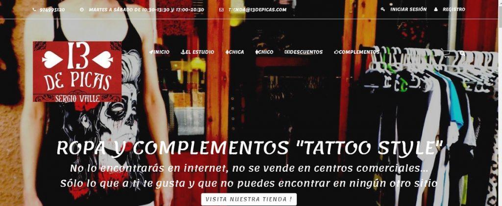 13depicas tienda ropa complementos tattoo diseño tatuaje