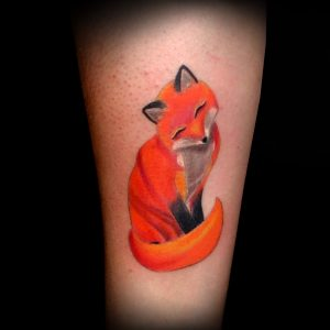 tatuaje zorro color antebrazo fox tattoo 13depicas