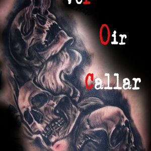 tatuaje calaveras ver oir callar black grey blanco negro costillas 13depicas