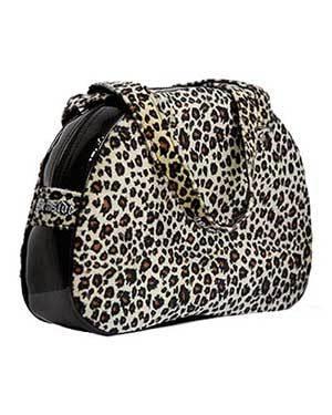 bolso bowling leopardo animal print charol 13depicas