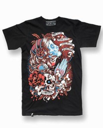 camiseta diseño imágenes tattoo gypsy calavera 13depicas