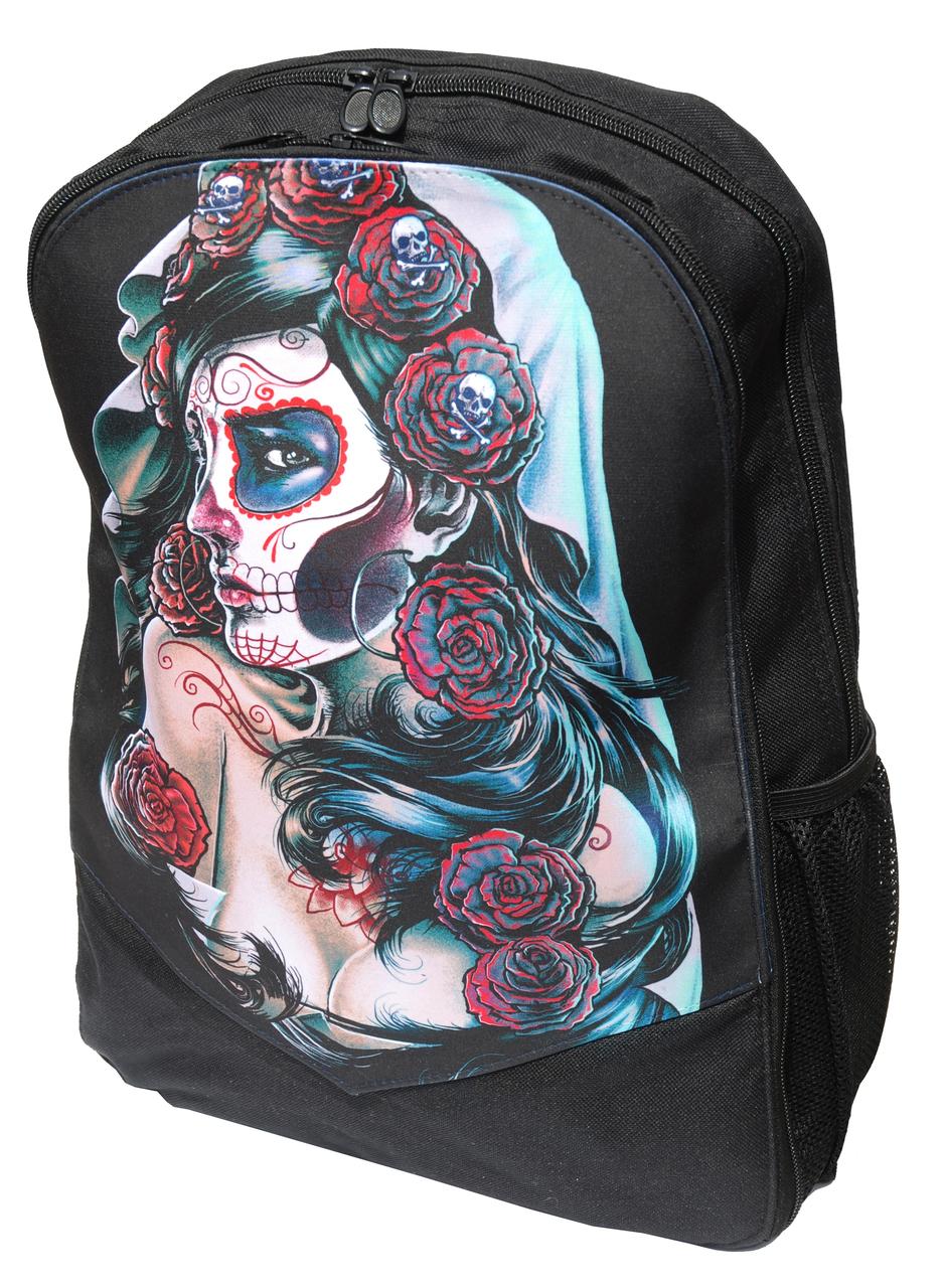 mochila dia muertos catrina rosas color 13depicas
