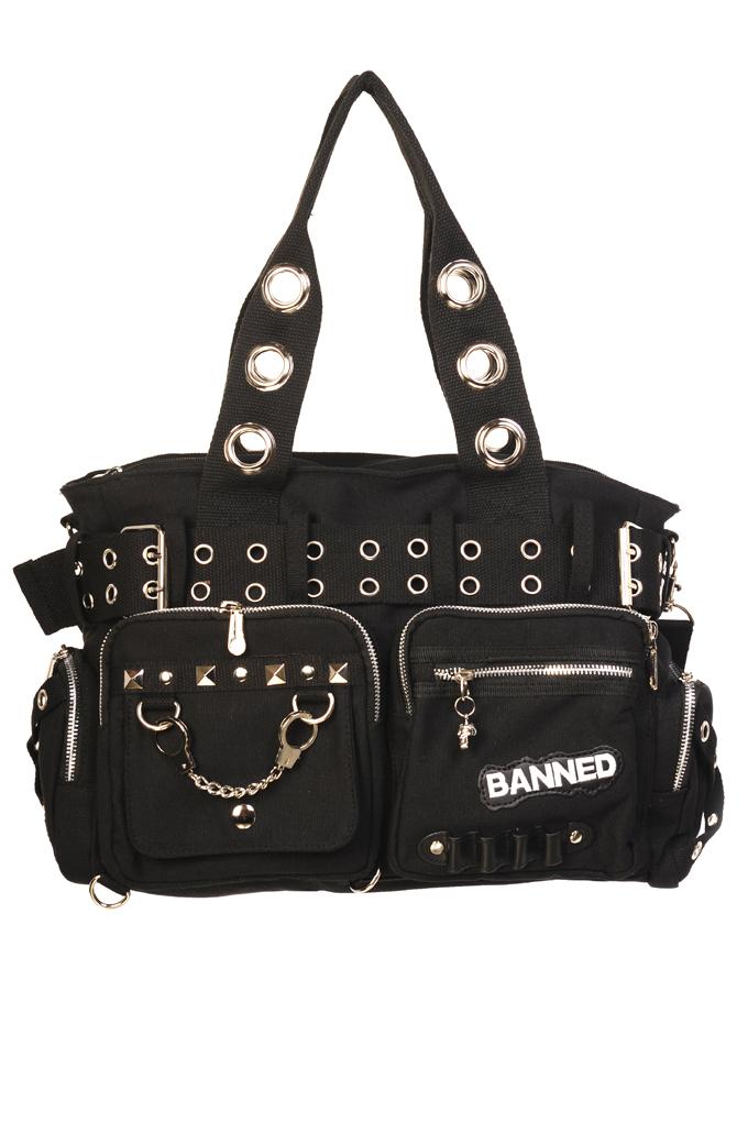 Bolso Banned cadenas tachuelas studs black negro hombro 13depicas online ropa tattoo