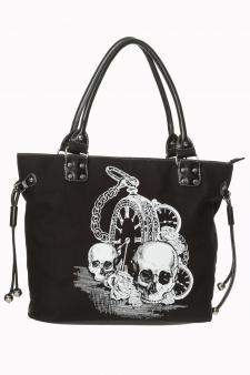 Bolso calaveras reloj Banned skull black negro 13depicas online ropa tattoo