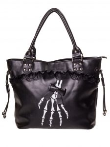 Bolso mano esqueleto calavera skull bag Banned ropa tattoo clothing online 13depicas