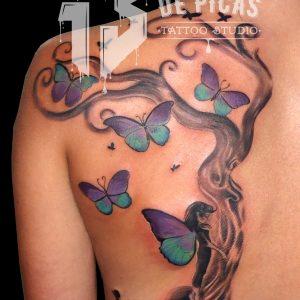 hada arbol vida tattoo fantasia jaca huesca tatuajes tattoo 13depicas trecedepicas espalda mariposas color femenino