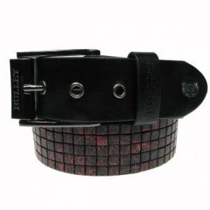 cinturon studs rojo negro 13depicas