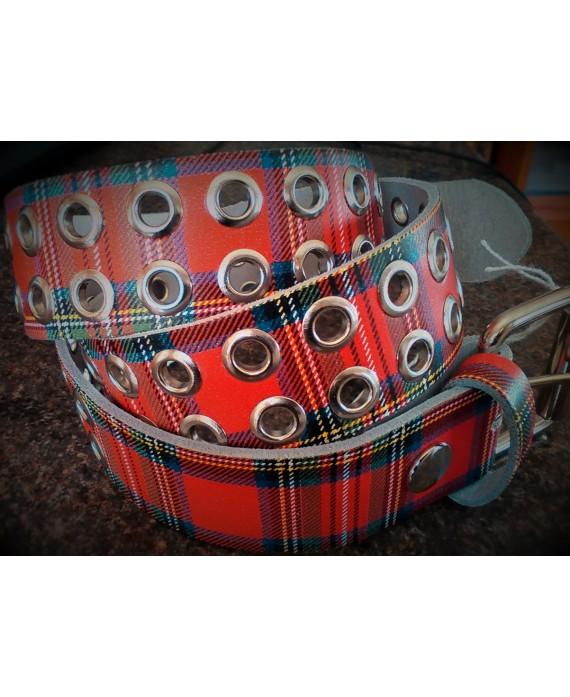 cinturon escoces 13depicas punk rojo ropa alternativa online