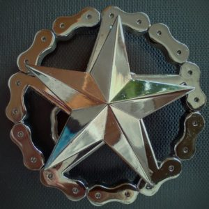 hebilla estrella doble 13depicas cinturón ropa alternativa