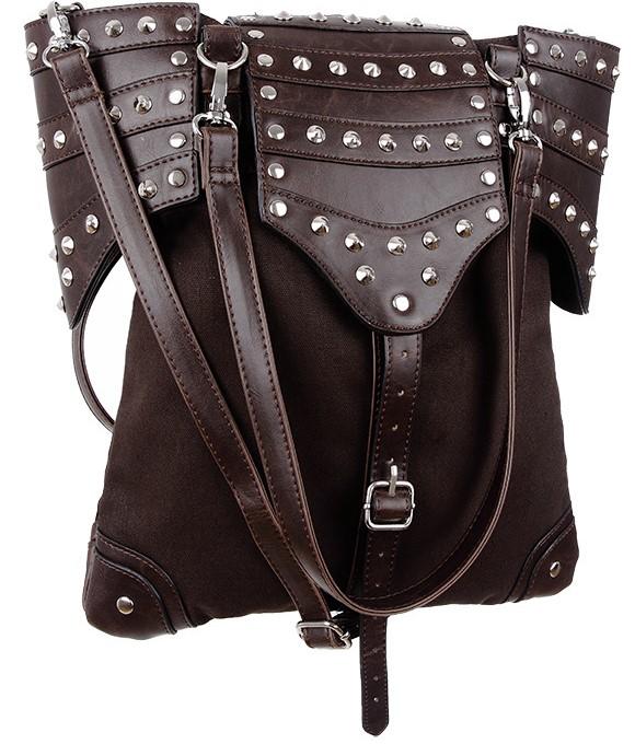 Bolso tachuelas estilo gótico marrón bandolera mano 13depicas online punk alternativo