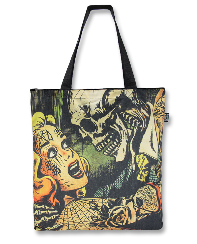 bolso diseño comic tattoo horror calavera tattoo 13depicas
