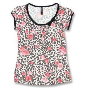 camiseta floral leopardo 13depicas liquorbrand
