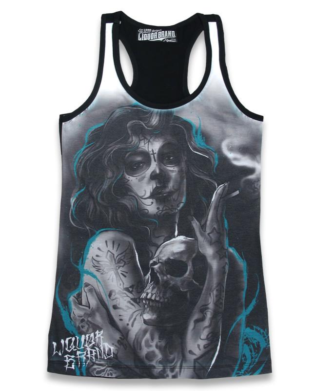 camiseta tirantes diseño imágenes tattoo calavera catrina 13depicas