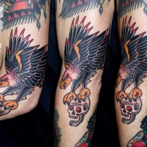 aguila calavera tatuaje tradicional old school 13depicas