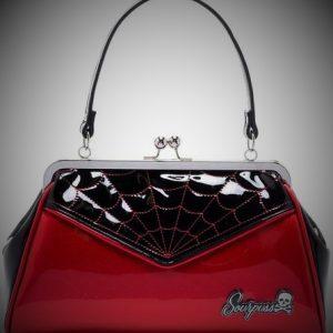 bolso mano araña spiderweb rojo brillante 13depicas ropa moda alternativa online 13depicas shop