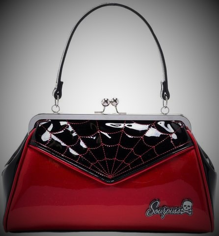 bolso mano araña spiderweb rojo brillante 13depicas ropa moda alternativa online 13depicas shop