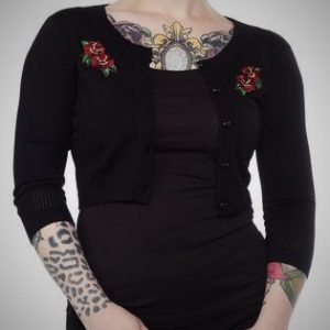 cárdigan chaqueta bordado tattoo rosas 13depicas shop ropa alternativa online