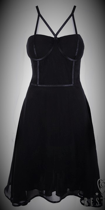 vestido gótico gasa tirantes 13depicas ropa alternativa online punk rock calavera