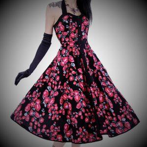 vestido pinup retro rosas 13depicas 50 style ropa alternativa online rock