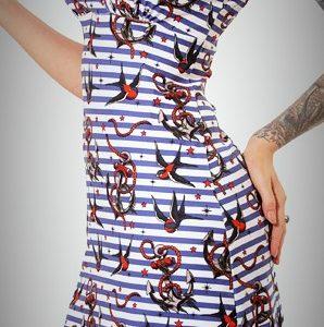 Vestido ancla gaviota sailor tattoo style diseño tatuaje ropa alternativa 13 de picas online 2