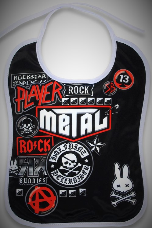 babero bib rock moda alternativa online 13depicas punk metal