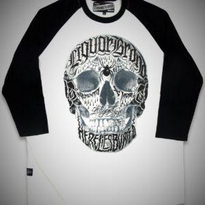 moda alternativa camiseta calavera tattoo beisbol media manga 13depicas ropa calaveras online