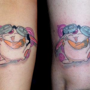 mokona tattoo tatuaje color brazo animación japon 13depicas jaca huesca