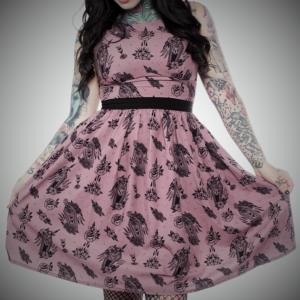 vestido tattoo style tradicional rosa negro moda alternativa online ropa 13depicas (2)