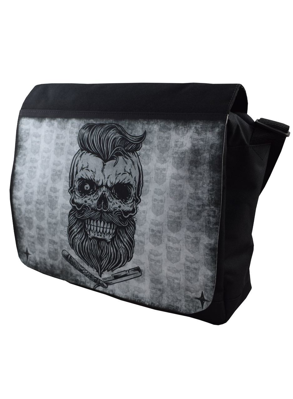 bolso messenger calavera barber moda alternativa online 13depicas