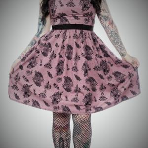 vestido tattoo style tradicional rosa negro moda alternativa online ropa 13depicas