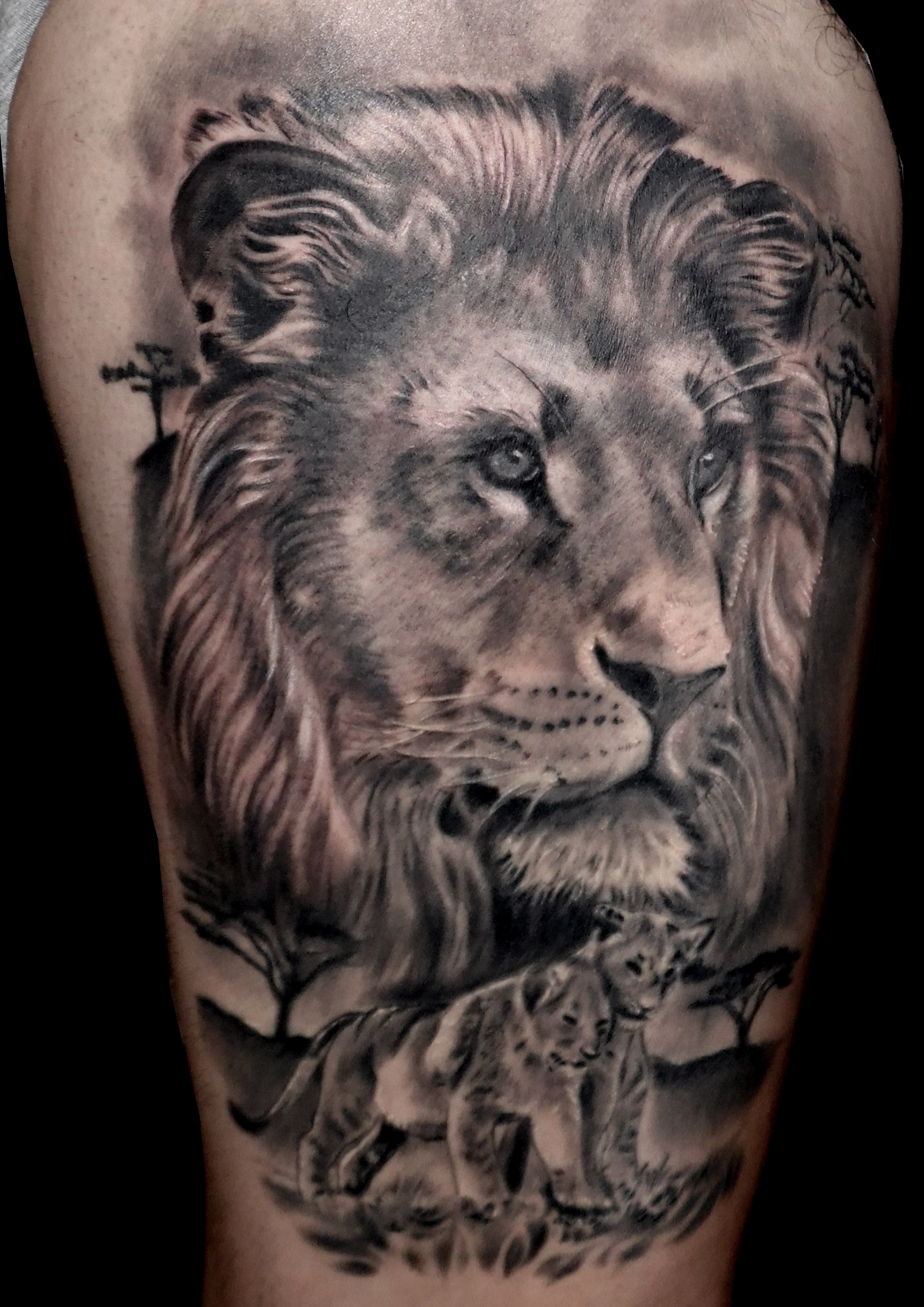 Tattoos Realismo Leones 13depicascomstudio Tattoopiercing
