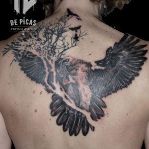 quebrantahuesos cover tatuaje tattoo tapado espalda ave quebrantahuesos pajaros naturaleza 13depicas jaca huesca